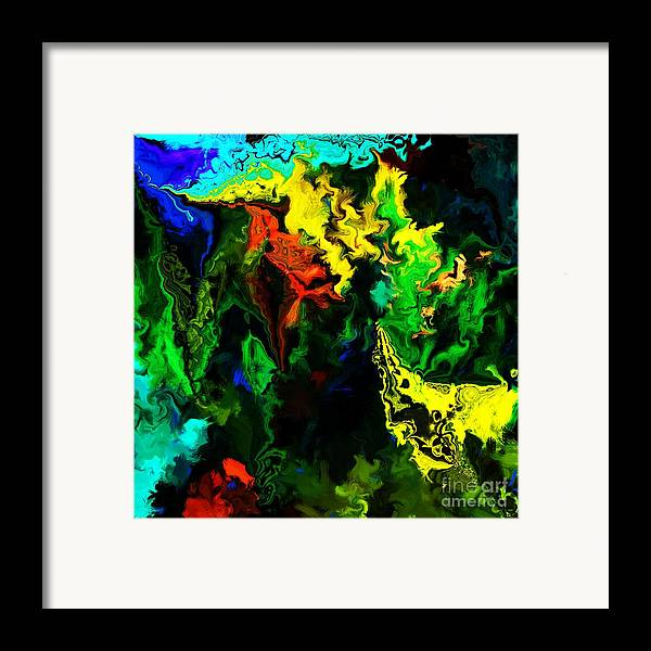 Abstract Framed Print featuring the digital art Abstract 2-23-09 by David Lane