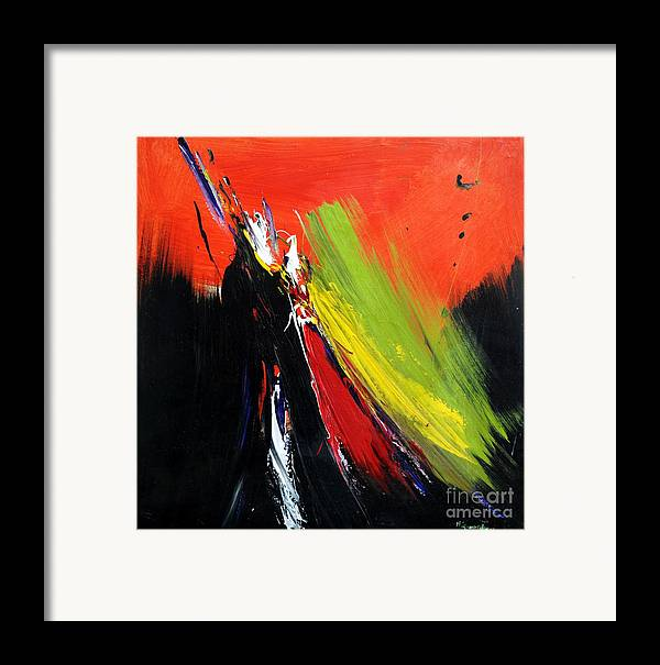 Abstract Framed Print featuring the painting Abstract 2002 by Mario Zampedroni