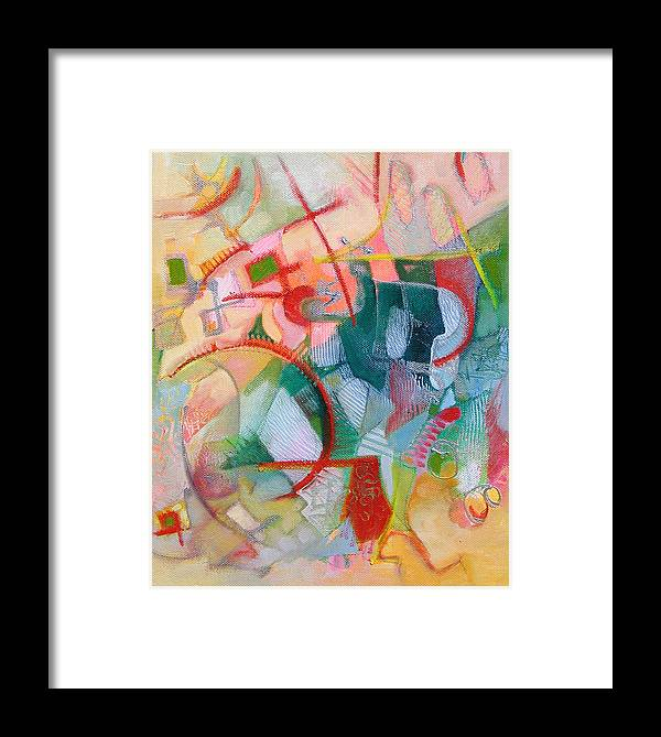 Abstract Artwork Framed Print featuring the painting Abstract 3 by Susanne Clark
