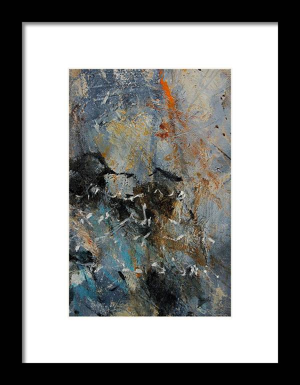 Abstract Framed Print featuring the painting Abstract 4526987 by Pol Ledent
