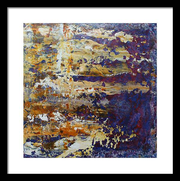 Abstract Framed Print featuring the painting Abstract 4711 by Detlef Gotzens