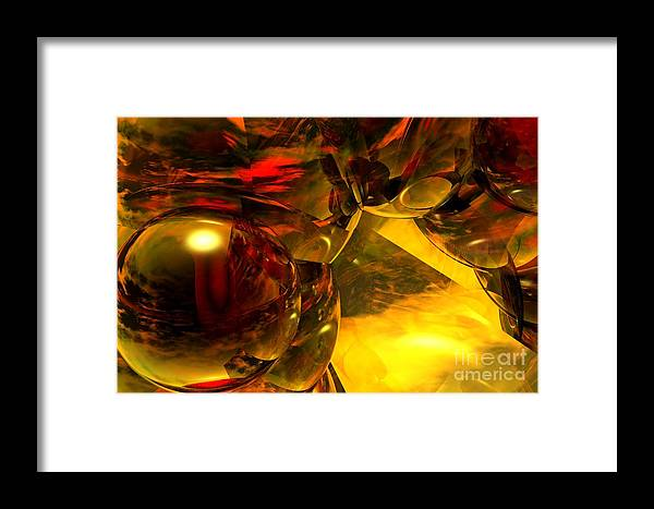 Abstract Framed Print featuring the digital art Abstract 5-21-09 by David Lane