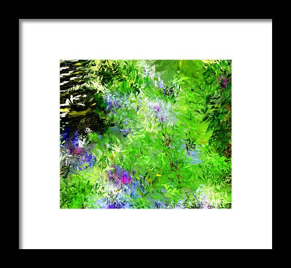 Abstract Framed Print featuring the digital art Abstract 5-26-09 by David Lane