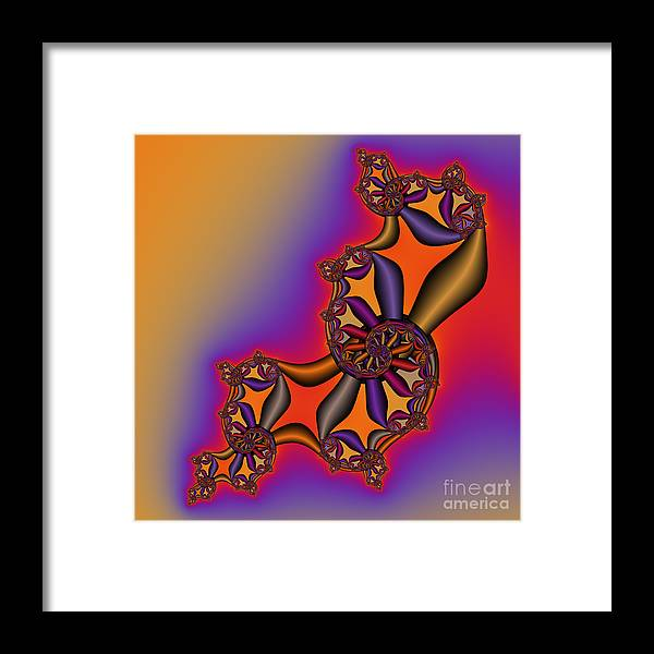 Abstract Framed Print featuring the digital art Abstract 54 by Rolf Bertram