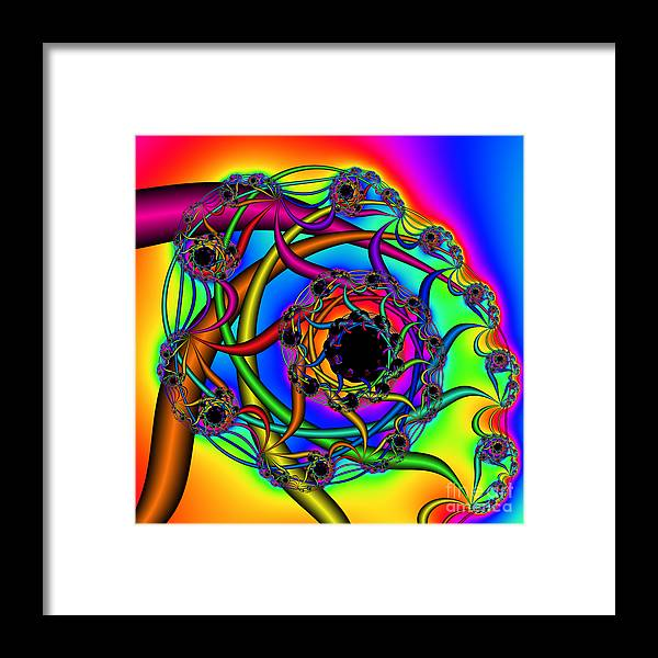 Abstract Framed Print featuring the digital art Abstract 65 by Rolf Bertram