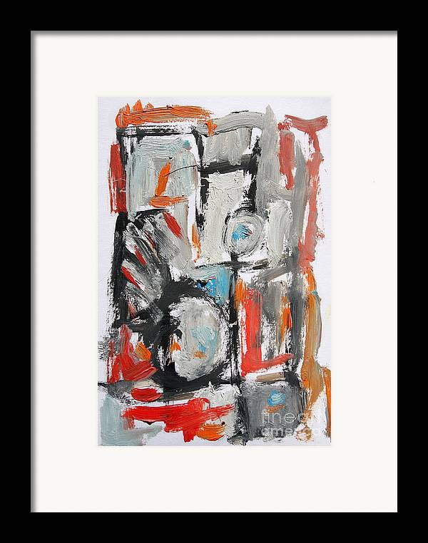 Abstract Framed Print featuring the painting Abstract 6831 by Michael Henderson