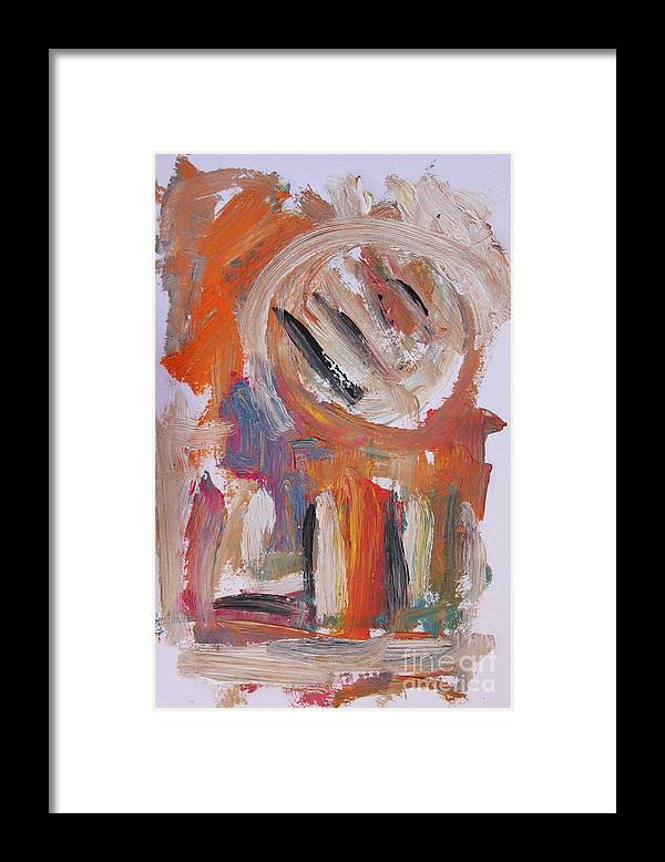 Abstract Framed Print featuring the painting Abstract 6833 by Michael Henderson