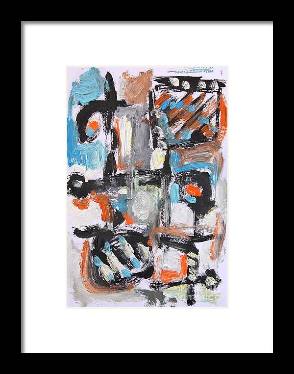 Framed Print featuring the painting Abstract 6834 by Michael Henderson