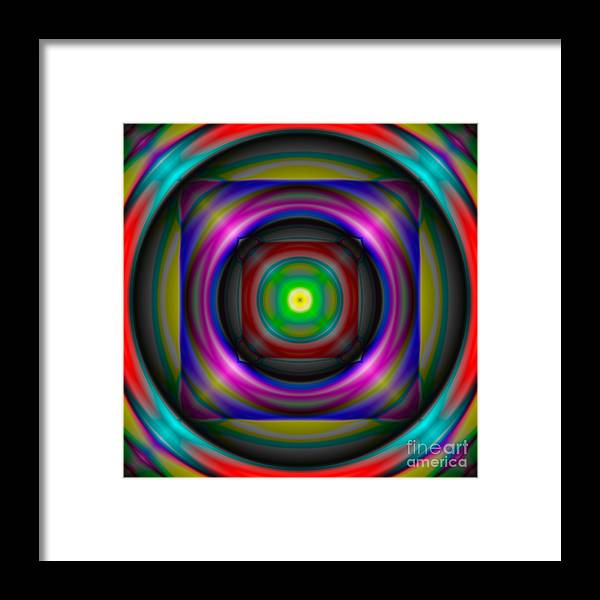 Abstract Framed Print featuring the digital art Abstract 705 by Rolf Bertram