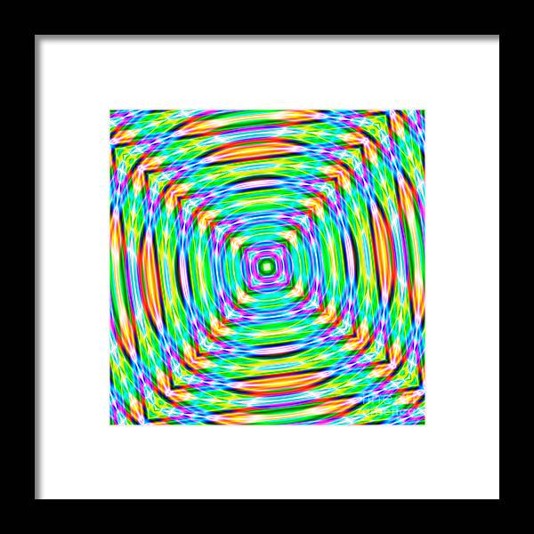 Abstract Framed Print featuring the digital art Abstract 709 by Rolf Bertram