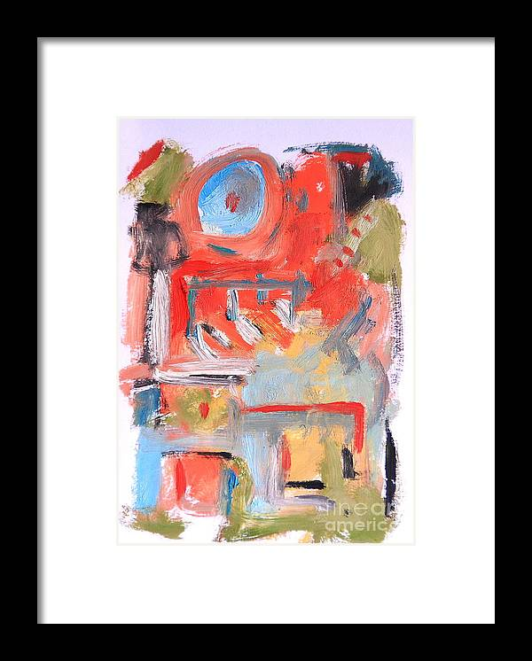 Abstract Framed Print featuring the painting Abstract 7204 by Michael Henderson