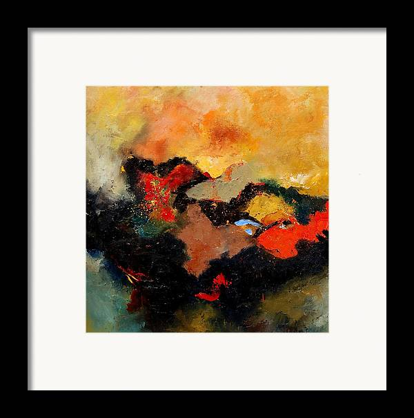 Abstract Framed Print featuring the painting Abstract 8080 by Pol Ledent