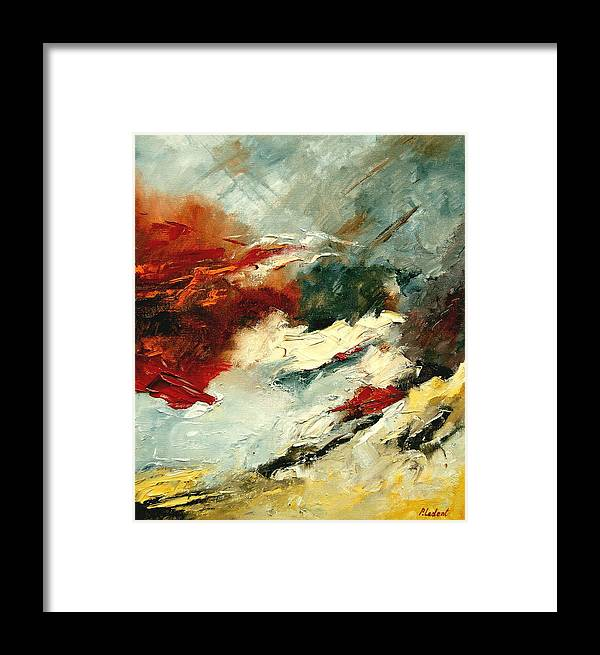 Abstract Framed Print featuring the painting Abstract 9 by Pol Ledent