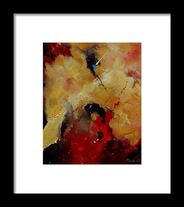 Abstract Framed Print featuring the painting Abstract 901156 by Pol Ledent