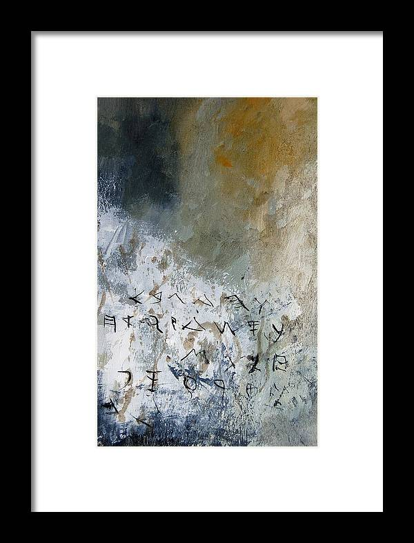 Abstract Framed Print featuring the painting Abstract 904023 by Pol Ledent