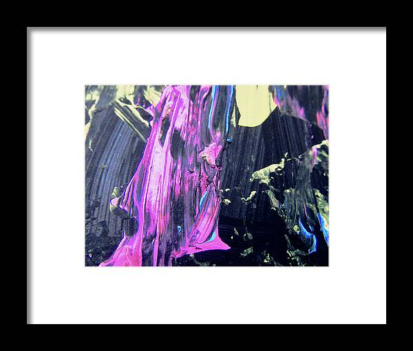 Pink Framed Print featuring the painting Abstract 9064 by Stephanie Moore