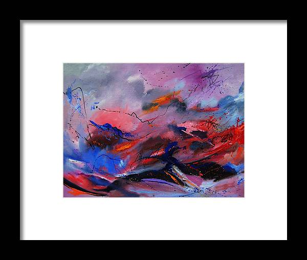 Abstract Framed Print featuring the painting Abstract 971260 by Pol Ledent