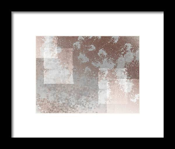 Abstract Framed Print featuring the digital art Abstract Art Paint And Splashes by Melanie Viola