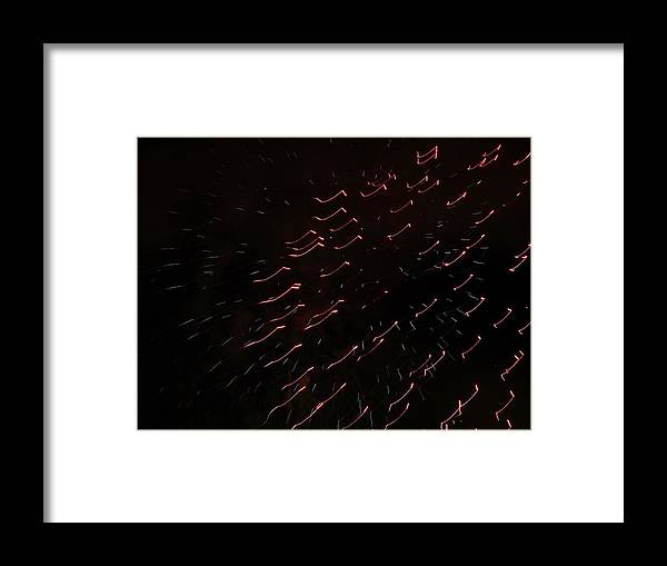 Fireworks Framed Print featuring the photograph Abstract Art Six by Kenneth Summers