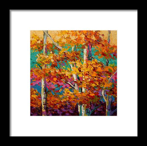 Trees Framed Print featuring the painting Abstract Autumn IIi by Marion Rose