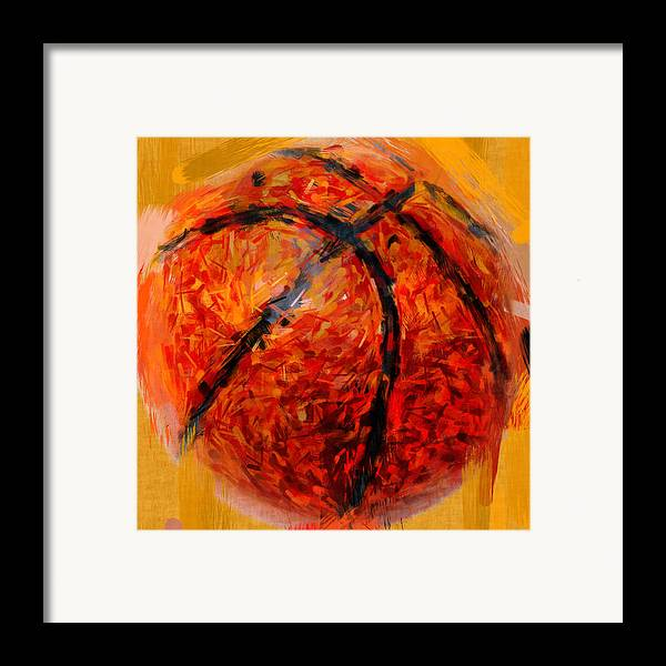 Basketball Framed Print featuring the photograph Abstract Basketball by David G Paul