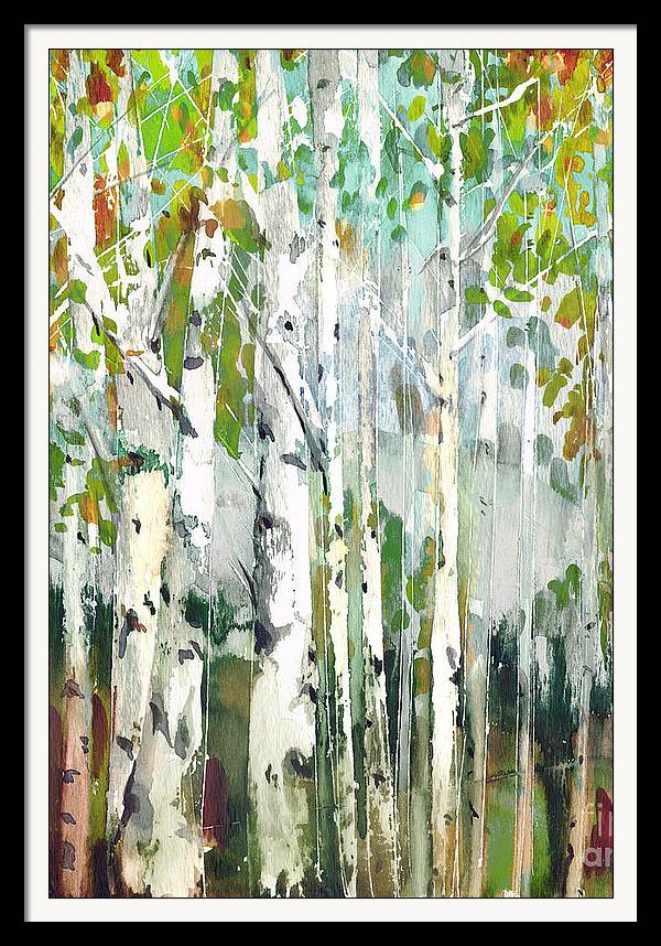 Abstract birch trees by Marietta Cohen