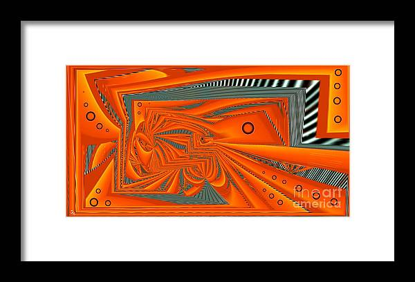 Abstract Framed Print featuring the digital art Abstract Boxed by Ron Bissett