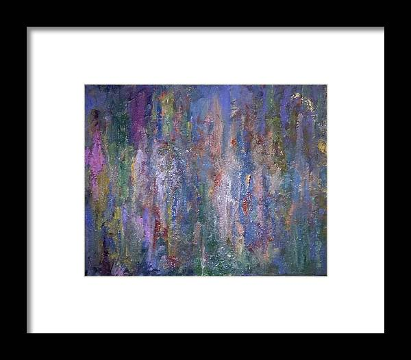 Abstract Framed Print featuring the painting Abstract by Brett Willis