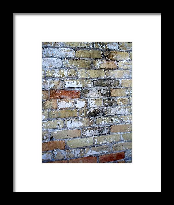 Industrial Framed Print featuring the photograph Abstract Brick 10 by Anita Burgermeister