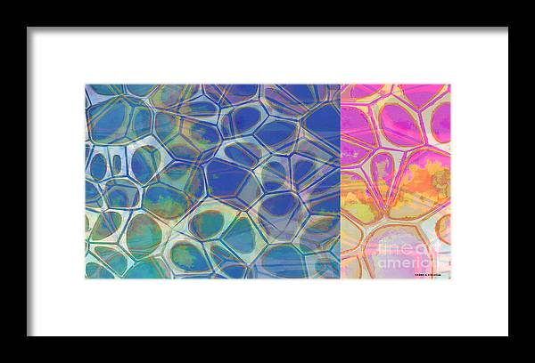 Square Framed Print featuring the painting Abstract Cells 6 by Edward Fielding