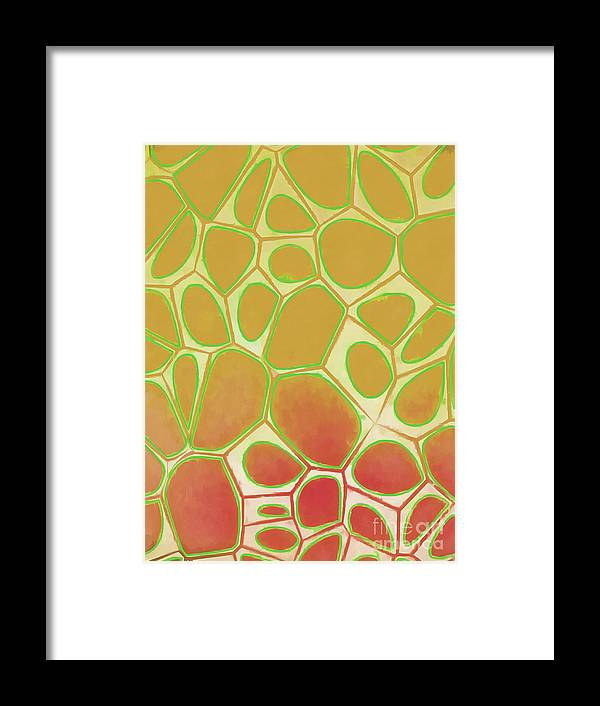 Square Framed Print featuring the painting Abstract Cells 2 by Edward Fielding