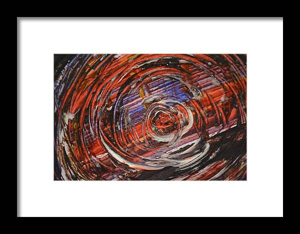 Abstract- Circle Framed Print featuring the photograph Abstract- Circle by Sandeep Kumar Dogra