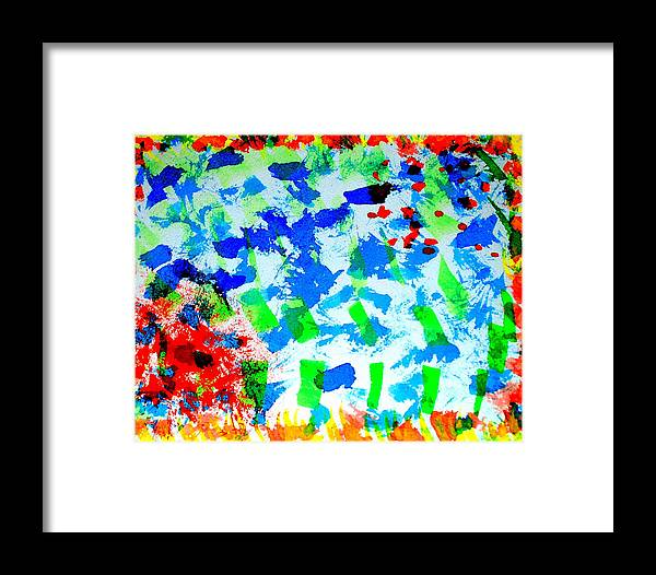 Artwork Framed Print featuring the photograph Abstract Colors. by Oscar Williams