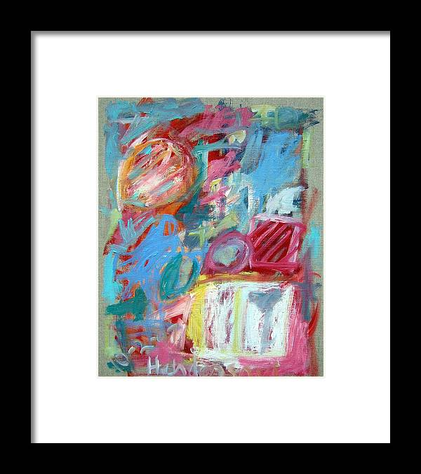 Abstract Framed Print featuring the painting Abstract Composition 2 by Michael Henderson