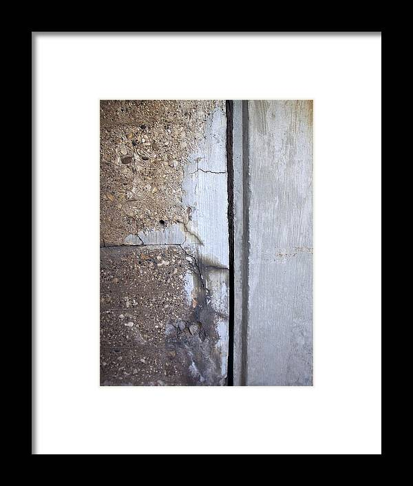 Industrial. Urban Framed Print featuring the photograph Abstract Concrete 5 by Anita Burgermeister