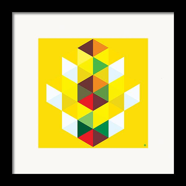 Modern Art Framed Print featuring the painting Abstract Cubes by Gary Grayson