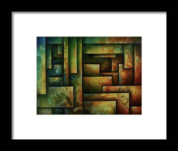 Abstract Art Framed Print featuring the painting Abstract Design 102 by Michael Lang