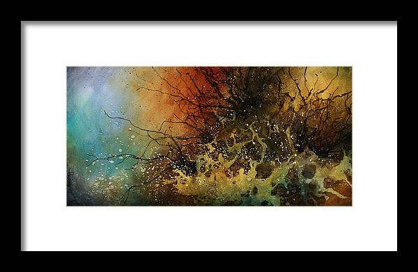 Abstract Art Framed Print featuring the painting Abstract Design 14 by Michael Lang