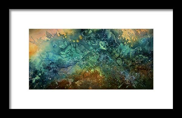 Art Framed Print featuring the painting Abstract Design 27 by Michael Lang