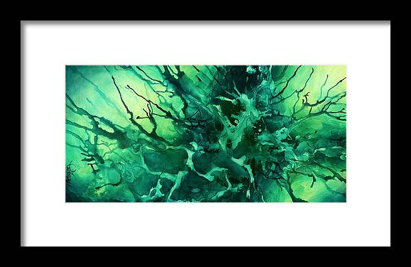 Framed Print featuring the painting Abstract Design 37 by Michael Lang