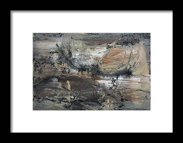 Painting Framed Print featuring the painting Abstract Earthy Texture by Anita Burgermeister