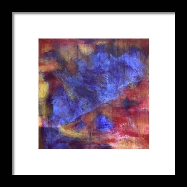 Colorful Framed Print featuring the painting Abstract Energy by Ron Tango Jr