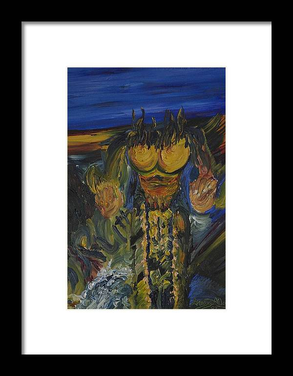 Abstract Framed Print featuring the painting Abstract Evolution 0 by Gregory Allen Page