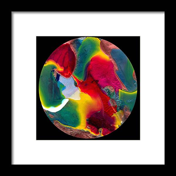 Abstract Framed Print featuring the painting Abstract - Evolution Series 1020 by Dina Sierra