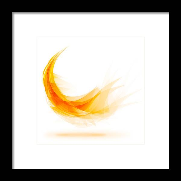 Abstract Framed Print featuring the painting Abstract Feather by Setsiri Silapasuwanchai
