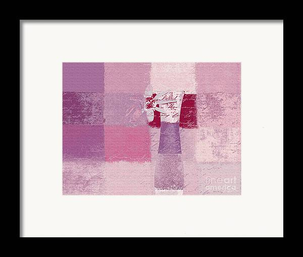 Abstract Framed Print featuring the digital art Abstract Floral - 11v3t09 by Variance Collections