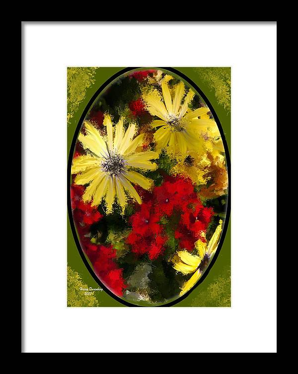 Flowers Framed Print featuring the painting Abstract Flowers 2 by Harry Dusenberg