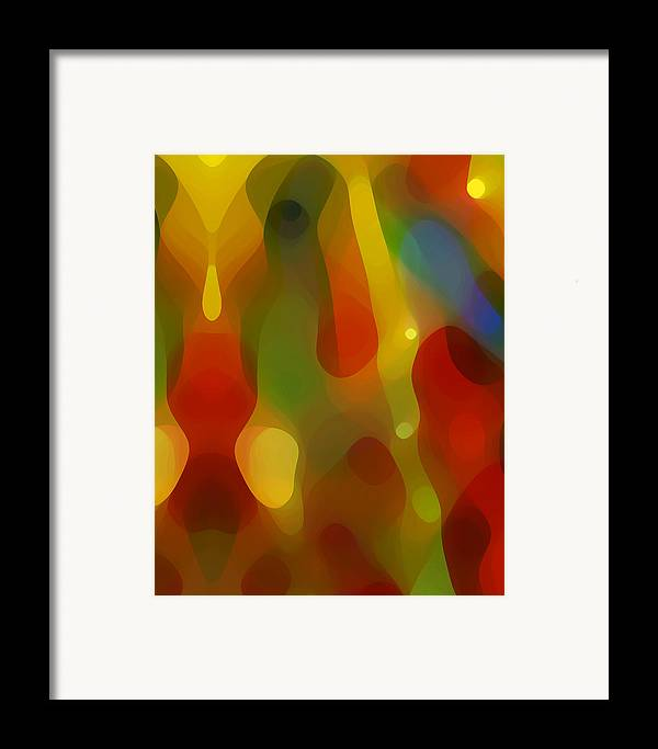 Abstract Art Framed Print featuring the painting Abstract Flowing Light by Amy Vangsgard