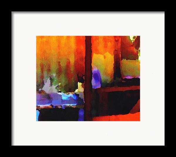 Framed Print featuring the digital art abstract from Clothesline by Danielle Stephenson