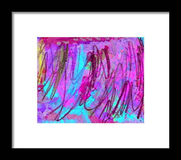 Abstract Framed Print featuring the mixed media Abstract l by Kiely Holden